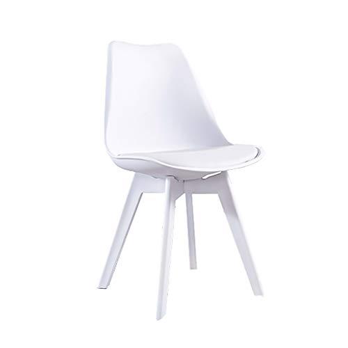 QIAOJUNJUN huishoudkeuken stoel PP kunststof met zitkussen en rugleuning, kunststof onderstel poten, zithoogte 83 cm