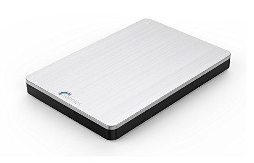 Sonnics 80GB silber Externe Festplatte USB 3.0 super schnelle Übertragungsgeschwindigkeit für Verwendung mit Windows PC,Mac & Xbox 360