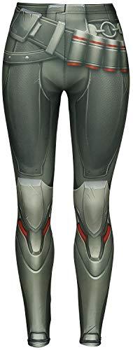 Overwatch Wild Bangarang - Reaper Mujer Leggins Multicolor M, 80% poliéster, 20% elastán, Pitillo