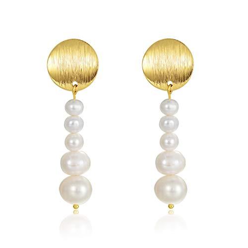 Aretes Los pendientes de gota pendientes de la perla cuelgan la boda de la vendimia for las mujeres, joyería, pendientes de la delicada joyería de perlas regalo for las mujeres para mujeres