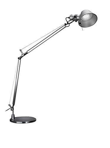 Artemide Tolomeo LED Tischlampe mit Fuss, Aluminium