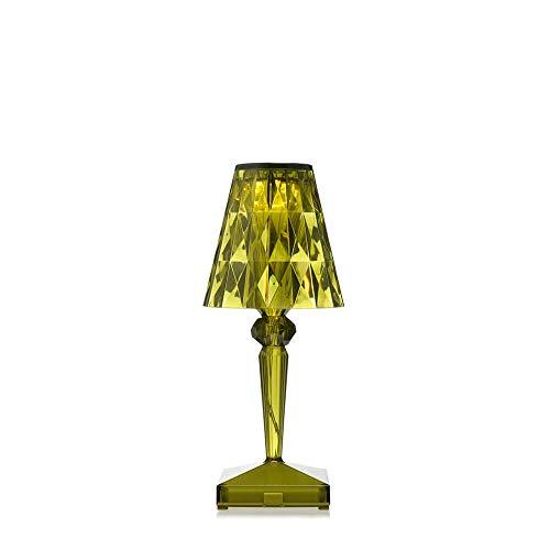 Kartell Battery lámpara de mesa portátil y recargable transparente verde