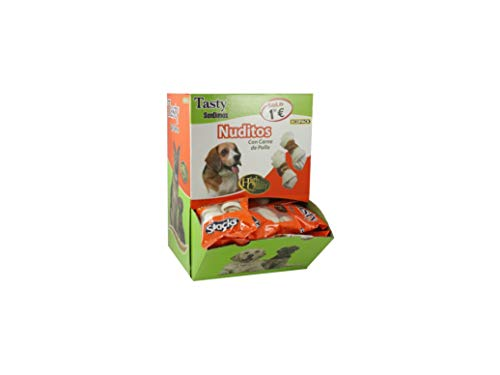 San Dimas Tasty Expositor Nuditos Snacks para Perros - Paquete de 40 x 2 Unidades