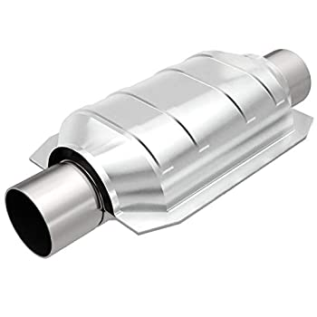 MagnaFlow Universal Catalytic Converter California Grade CARB Compliant 357204 - Stainless Steel 2in Inlet/Outlet Diameter 13in Overall Length No O2 Sensor - CA Legal 1992-1995 Camry Replacement
