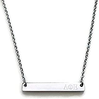 Delta Phi Epsilon Sorority Necklace Silver Stainless Steel 18 inch Greek Life Bid Night Gift Big Little Sister