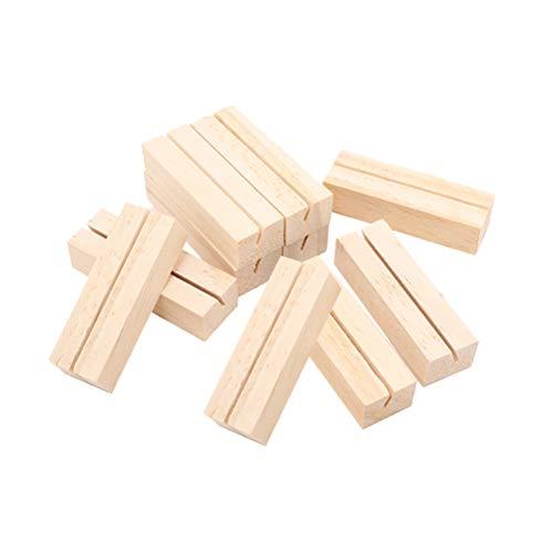 STOBOK 10 stücke Holz Kartenhalter Vintage Holz Kartenhalter Tischnummer Halter Hochzeit Tischkartenhalter Rechteckförmigen Halter