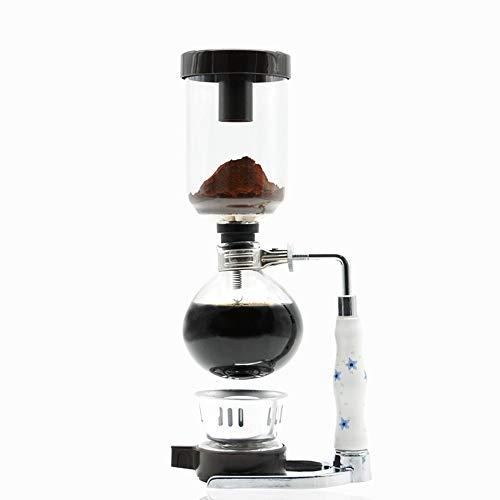 Lpinvin Kaffeesiphon Syphon Kaffeemaschine Haushalts Syphon Pot Manuelle Kaffeemaschine Gläser Set Syphon Kaffeemaschine Siphon Filter Kaffeemaschine (Farbe : White, Size : 36x15cm)