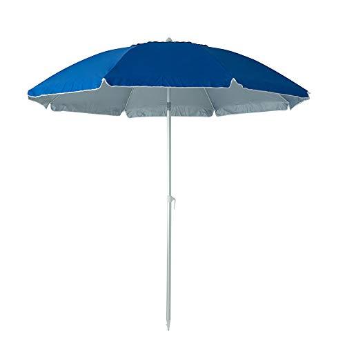 C-Hopetree 8 Foot Beach Umbrella with Aluminum Pole and Tilt, Royal Blue