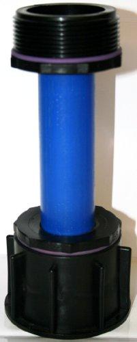 AME90R13_90 Tube d'écoulement avec tube plastique DN32, 100 mm AG 1 + manchon avec filetage Fein, IBC Adaptateur de réservoir d'eau de pluie de Accessoires de conteneurs Mamelon de Bidon