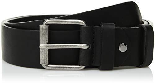 Nudie Jeans Unisex-Erwachsene Pedersson Leather Belt Gürtel, schwarz, 75 cm