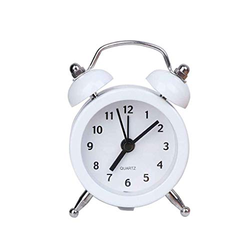 Floridivy Mini Ronde wekker Desktop bedlijst Klokken Kids mini klok, ronde Volwassenen Travel Clock Decor