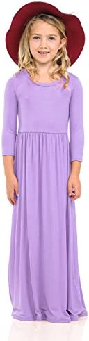 Pastel by Vivienne Honey Vanilla Girls Fit and Flare Maxi Dress Large 9 10 Years Lavender product image
