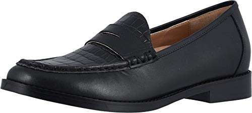 Vionic Women's Wise Waverly Loafer - Ladies Slip-on Shoes with Concealed Orthotic Support Black 7 Medium US