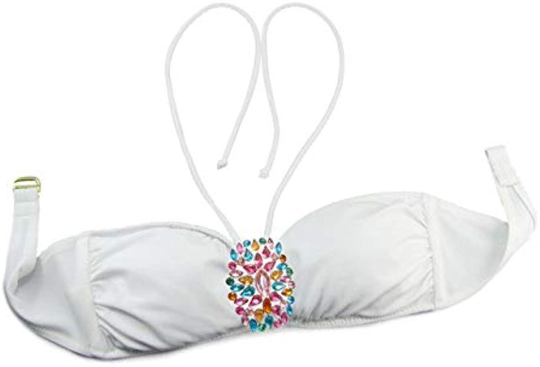 Bikini Mixer Tops Women Swimwear Beachwear Retro Bathing Suits Wwimming wear for Womens Bikini Tops 375092, M