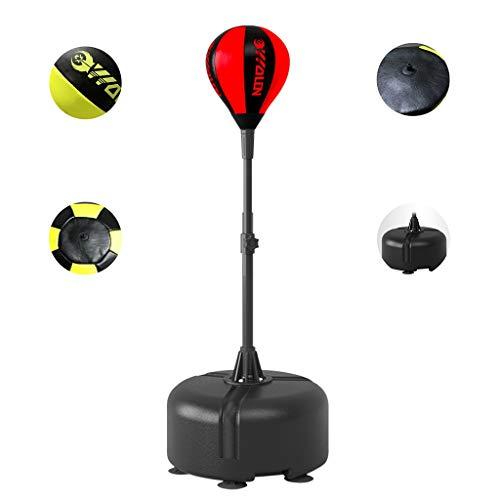 Standboxsäcke Boxsack Boxing Speed Ball Reaktion Ball High Speed Rebound Ball Haushalt Tumbler Sandsack Vertikale Boxen Ziel Trainingsgeräte (Color : Red, Size : 45 * 45 * 170cm)