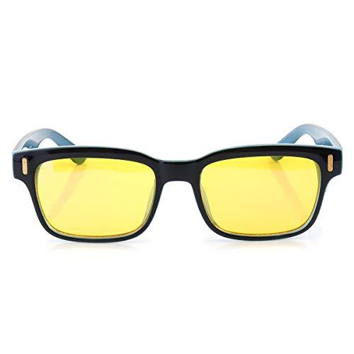 CHIMAKA Minleaf Computer Light Blocking Anti Blue Protección UV Mejor Gafas de lectura Nuevos accesorios de bricolaje (Color : Black+Blue)