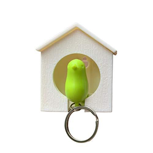 buycheapDG(JP) 鍵 置き クオリー 掛け キー ケース ホルダー リング フック 鍵ホルダー 鍵スタンド ホイッスル 笛 デュオ スパロウ 鍵置き 玄関 キーフック トレー おしゃれ アクセサリー収納 北欧 鳥 かわいい 鍵収納(色ランダム)