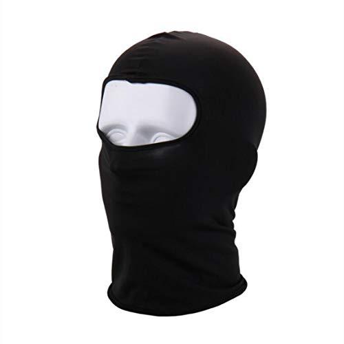 Garciasia Fleece de Moda Cálida Cubierta de Cara Completa Antipolvo Máscara de esquí a Prueba de Viento Capucha de Snowboard Bicicleta Antipolvo Bufanda térmica de pasamontañas (Color: Negro)
