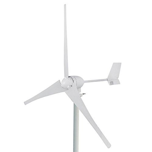 Buoqua windgenerator 700 Watt Wind Generator 24v Wind Turbine Generator 700w mit 3 Rotorblättern für Zuhause, Wohnwagen, Camping, Boot, Telekommunikation, Straßenbeleuchtung und Mehr