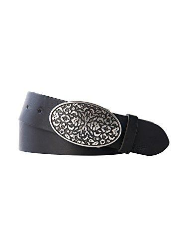 TOM TAILOR Damen Gürtel & Riemen Gürtel mit dekorativer Schnalle black,100
