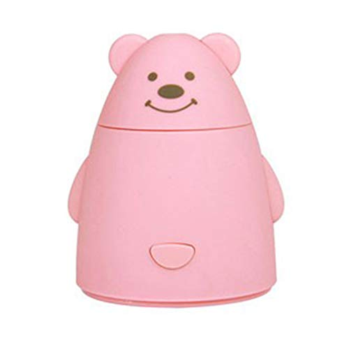 REFURBISHHOUSE USB De Dibujos Animados Humidificadores De Aire Nebulizador Casa Oficina Coche Auto Mute Difusor Purificador Creativo Fabricante De Niebla De Escritorio Regalo Oso Rosa