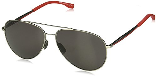 Hugo Boss heren BOSS 0938/S M9 2P5 59 zonnebril, grijs (Grey Rubber/Gy Grey)