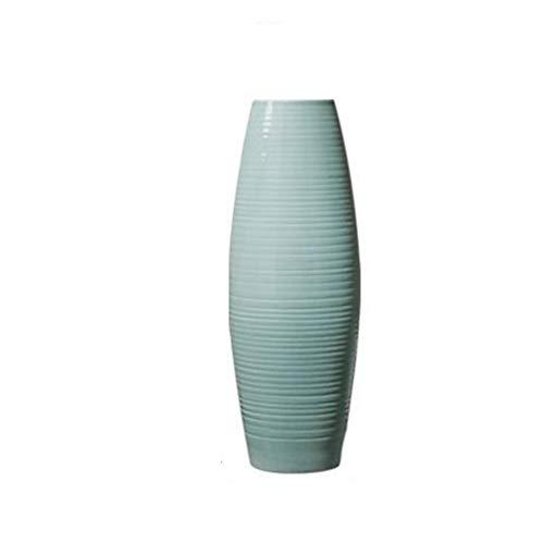 JSFQ Ceramic Vase Floor Vase Living Room Decoration Blue/Height 60cm vase