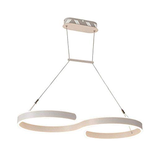 Chandelier Crystals, Ceiling Light,Led Warm Light Hanging Lamp Chandelier L60×30Cm S-Shape Aluminum Pendant Light Personality Fashion Restaurant Living Room Shop up and Down Double Side Lighting