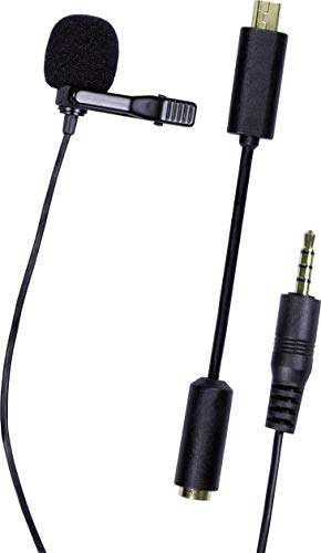 Dörr GP-20 Laveliermicrofoon voor GoPro Hero2/Hero3/Hero3+/DSLR-DSLM camera/camcorder (mono elektrische condensatormicrofoon, kogelkarakteristiek (omnidirectioneel))