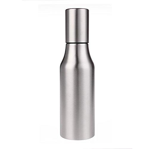 Ailier Olive Oil Dispenser 304 Stainless Steel 750ml Oil Bottle-All Made of Food Grade Material Oil Dispenser,Cruet For Vinegar,Soy sauce And More (750ML)