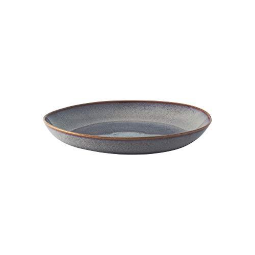 like. by Villeroy & Boch - Lave beige Schale flach, 28 x 27 x 4,3 cm, schöne Schale aus Steingut für Beilagen und größere Gerichte, glacé, spülmaschin- und mikrowellengeeignet