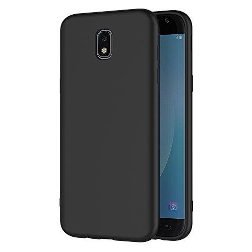 AICEK Coque Samsung Galaxy J7 2017, Noir Silicone Coque pour Samsung J7 2017 Housse Galaxy J7 2017 Noir Silicone Etui Case (5,5 Pouces SM-J730F)
