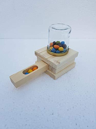 *Blitzversand* Bastelset- Bonbonspender aus Holz- Kaugummiautomat- Naturholz- Bausatz- Werkeln mit Spaß - Holzbausatz - Geschenkidee - Kinderferien-