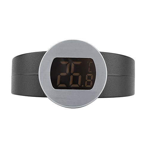 no-branded STF Wine Bottle Temperature Bracelet Instant Readout Beer Temperature Bracelet with Large LCD Display