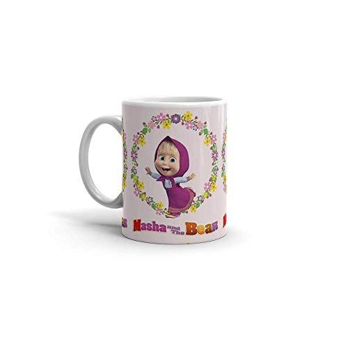Masha y el oso masha y el oso café de cerámica de 11 oz