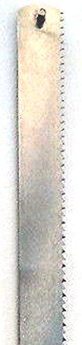 Lama di ricambio per sega per ossa manuale di diverse dimensioni e produttori, ad esempioDick, Wüsthof, etc.,inossidabile., 45x2 cm mit Pins (Schnellspann), argento, 1