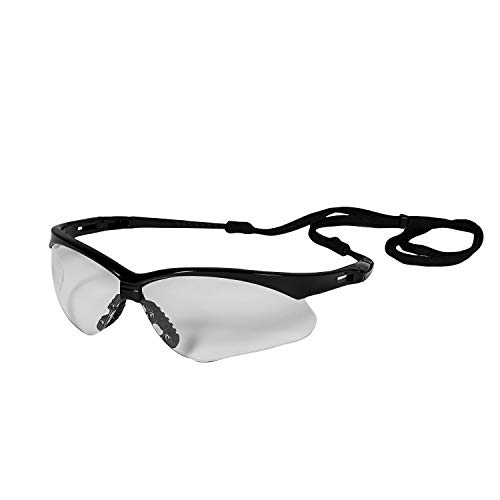 Jackson Safety 25679 V30 Nemesis Safety Eyewear, Polycarbonate, One Size, Black (Pack of 12)