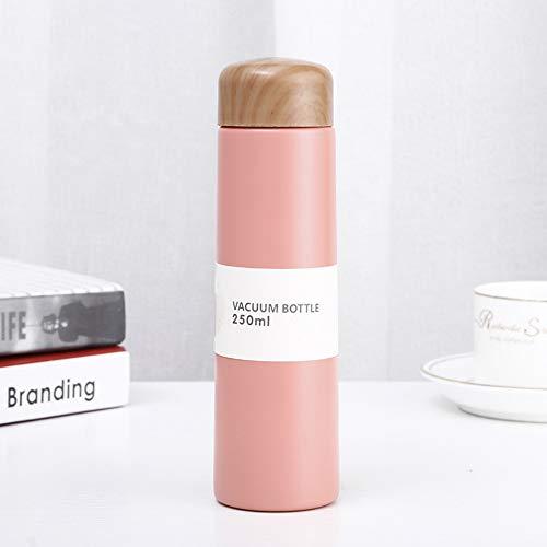 MSNLY Edelstahl Thermoskanne Becher tragbare Outdoor-Mini-Flasche, vakuumisolierte Tasse Mädchen isoliert Reisebecher Kaffee Edelstahlflasche Sportflasche