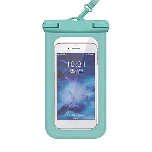 QINX Funda impermeable para teléfono móvil, para natación, buceo, surf o playa, color verde