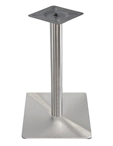Exclusiver EDELSTAHL Untergestell Quadratisch Bistrotisch