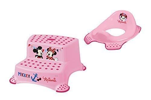 Ensemble de Deux Z Disney Minnie Mouse Wc Essai + Tabouret Deux Niveaux Toilettes Formateur