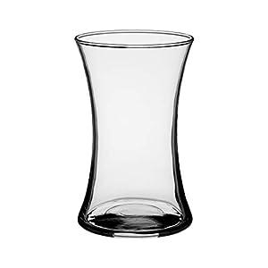 Floral Supply Online 8″ Rose Vase/Gathering Vase- Decorative Glass Flower Vase for Floral Arrangements, Weddings, Home Decor or Office.