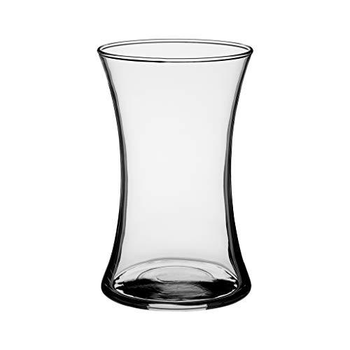 "Floral Supply Online 8"" Clear Gathering Vase- Decorative Glass Flower Vase for Floral Arrangements, Weddings, Home Decor or Office."