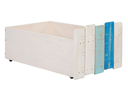 Massivum 10024227 Safari Schubkasten 2-er Set, Holz, blau, 65 x 98 x 43 cm