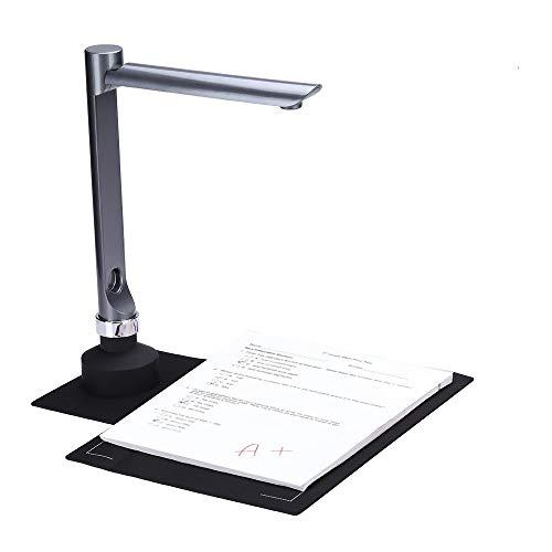 F60A USB Documento Cámara Escáner 5 Mega-Pixel HD Cámara A4 Captura Tamaño con Luz LED Enseñanza Software