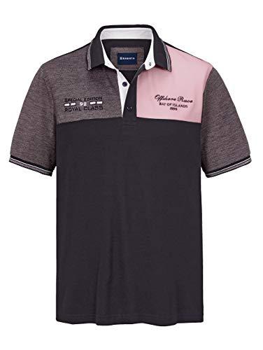 BABISTA Herren Regular Fit Poloshirt in Marineblau aus Baumwolle mit kontrastfarbenen Einsätzen im Vorderteil