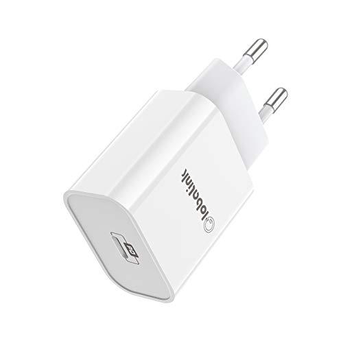 20W Cargador Rapido iPhone, GlobaLink Cargador iPhone 12 Cargador USB C Power Delivery 3.0 Carga Rápida para iPhone 12/12 Pro MAX/12 Mini/SE 2020/11Pro Max/11 Pro/11/XS/XR/X/8, Samsung, Xiaomi