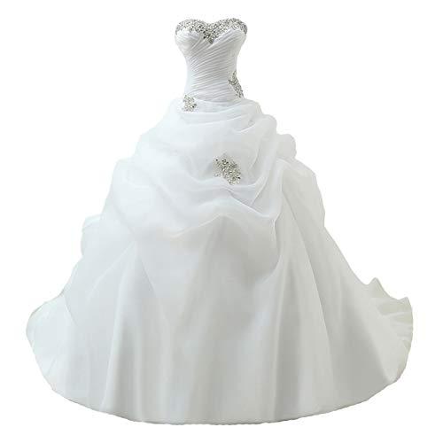 Yuxin Sweetheart Romantic Beading Wedding Dresses for Bride 2021 Long Ball Gown Bridal Dress