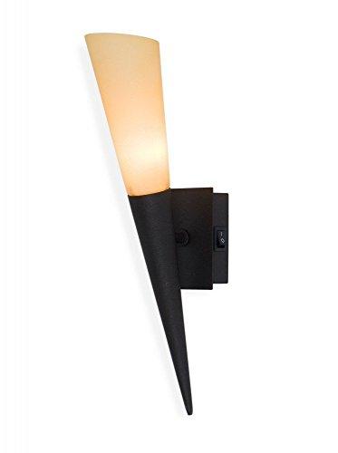 Led Wandfackel Liverpool,Wandleuchte,mediterrane Wandlampe,Leuchte,Lampe,Fackel,rostbraun, inkl. 1 x G9 Led 3 Watt /300 Lumen