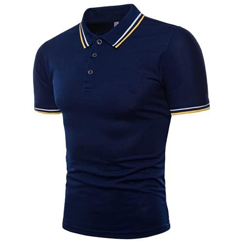 Camicia da golf da uomo, casual, con risvolto selvatico, a maniche corte, polo da uomo, Uomo, Marina Militare, XL